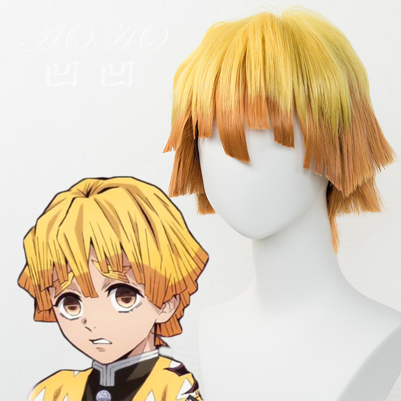 Orange Zenitsu Wig