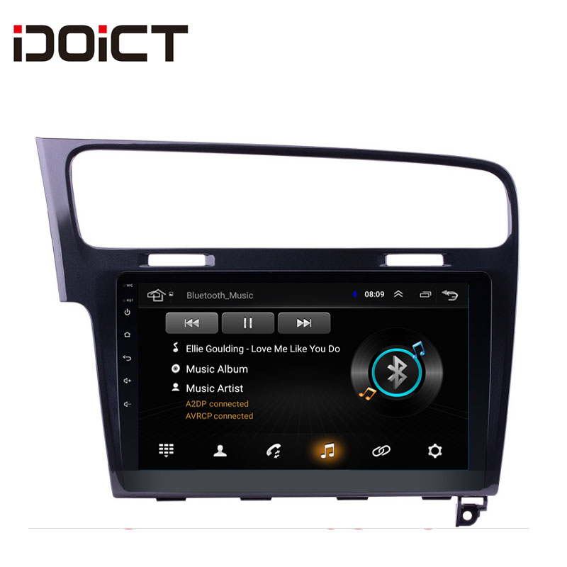 IDOICT Android 8,1 dvd-плеер автомобиля gps навигации мультимедиа для Volkswagen GOLF 7 2014-2017 стерео bluetooth