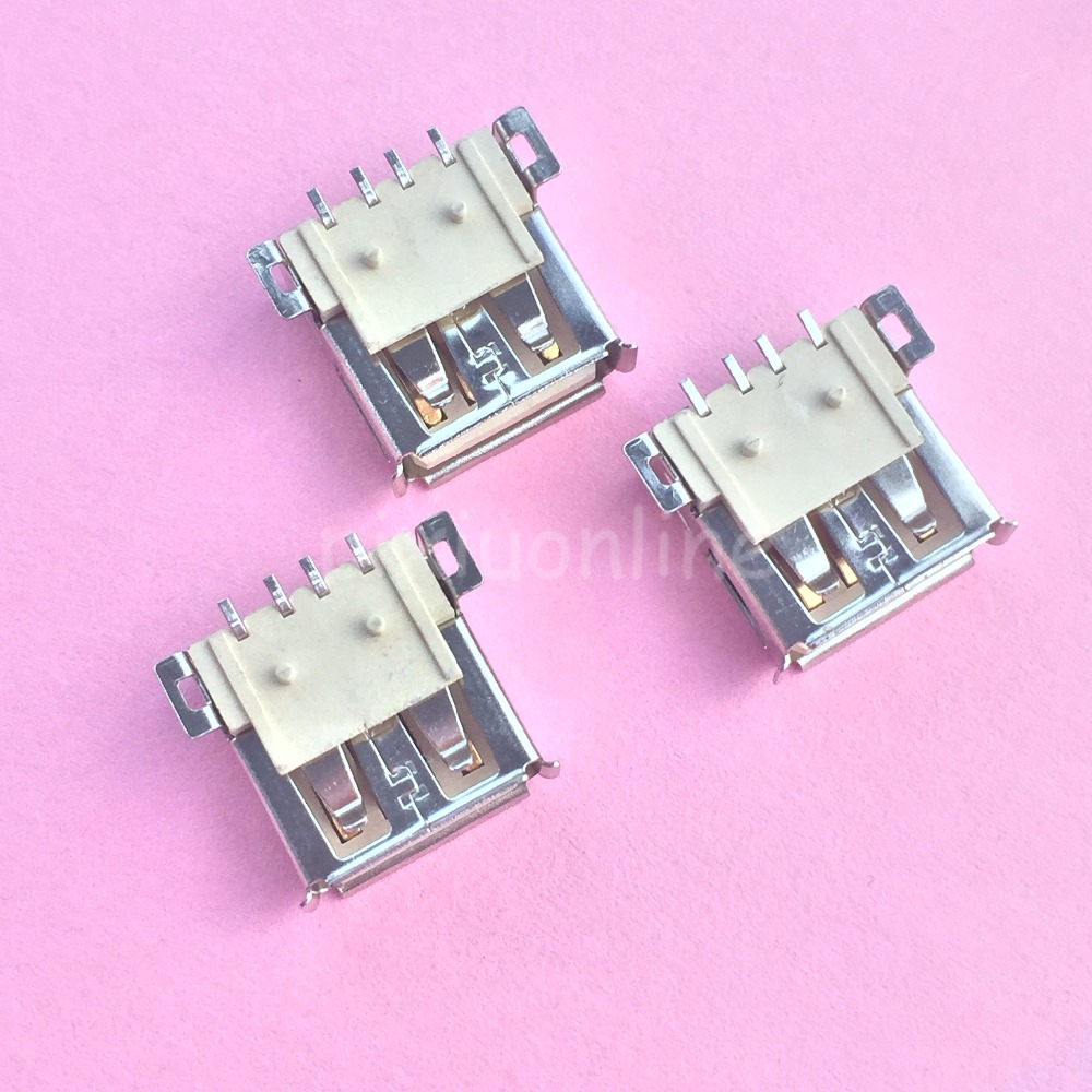 10pcs G53Y USB 2.0 4Pin A Type Female Socket Connector Curly Mouth for Data Transmission Charging Free Shipping Russia