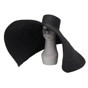 Image 3 - Axi01807 夏撮影モデルファッションショーキャットウォーク 35 センチメートル風つばレジャービーチ女性ウェディングキャップ女性の休日太陽の帽子