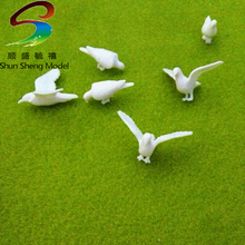 Size H-15mm UnPainted White Dove Animals HO Scale For Scale Model Design