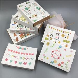 Image 5 - Boîte demballage en carton papier Kraft, boîte demballage assortie, bonbonnière fête mariage, coffret cadeaux amoureux de noël faits à la main, nouvelle collection