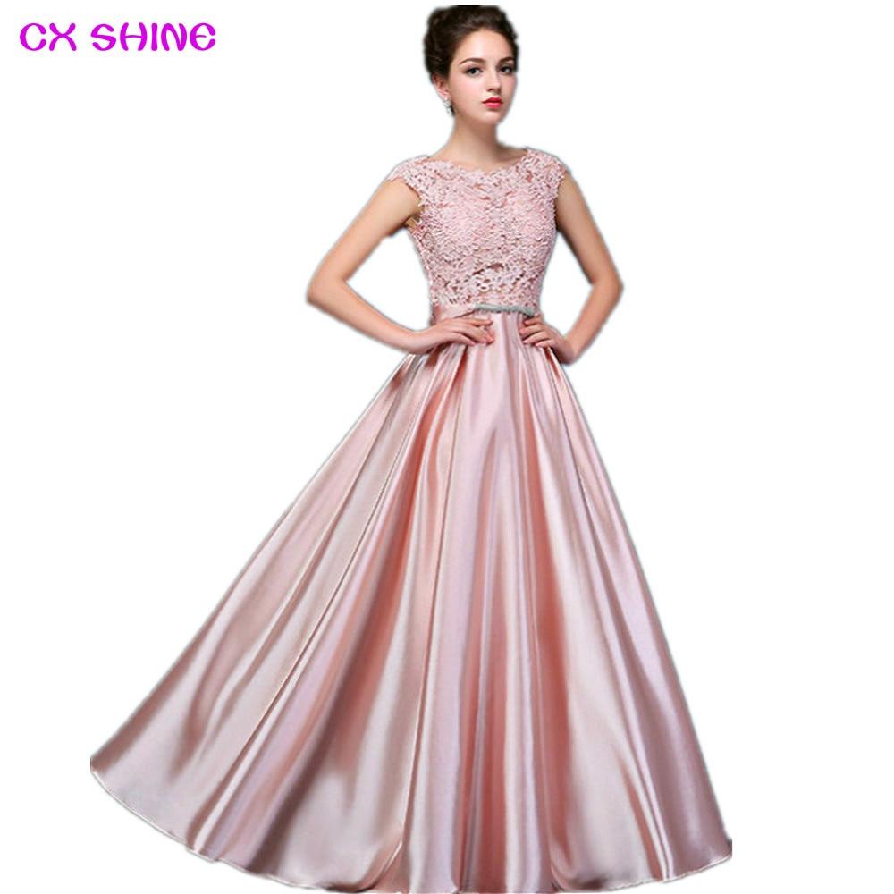 CX SHINE Custom size! Elegant lace long Evening dress tanpa lengan - Gaun acara khas - Foto 2