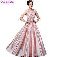 CX SHINE Niestandardowy rozmiar! elegancka koronkowa długa suknia bez rękawów suknia Graduation party dress formalna suknia szata Vestidos 59