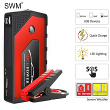 Swm Car Auto Starting Device Jump Starter Booster Multi-Function Emergency Led Power Bank 18000mah Charger