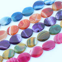 28-30x37-40mm Multi-Color Agates Oval Beads 10pcs , For DIY Jewelry making ! Mixed wholesale for all items!