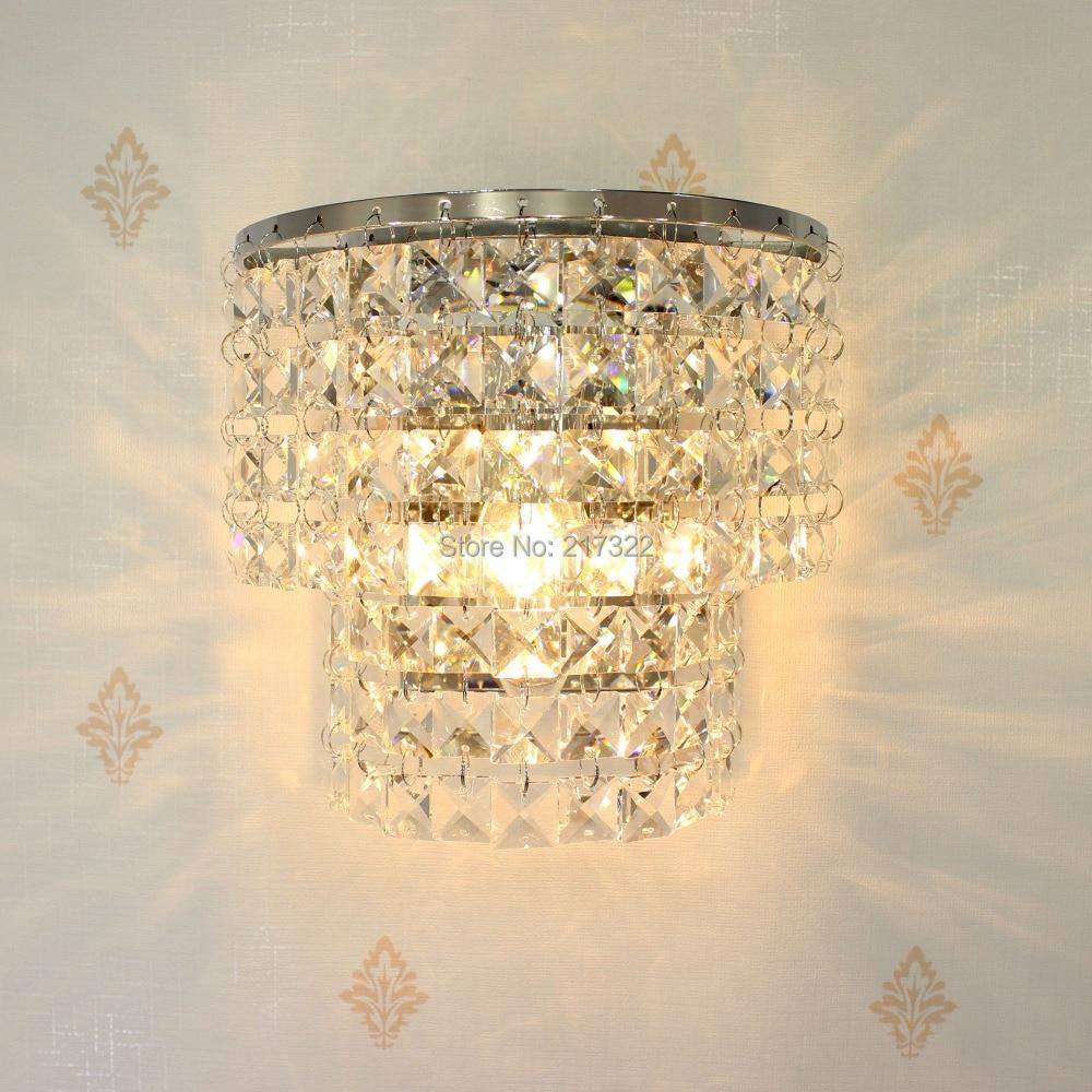 σύγχρονη εσωτερική κρύσταλλο τοίχο φωτιστικό φωτιστικό προσάρτημα σύγχρονη γυάλινη λάμπα mount