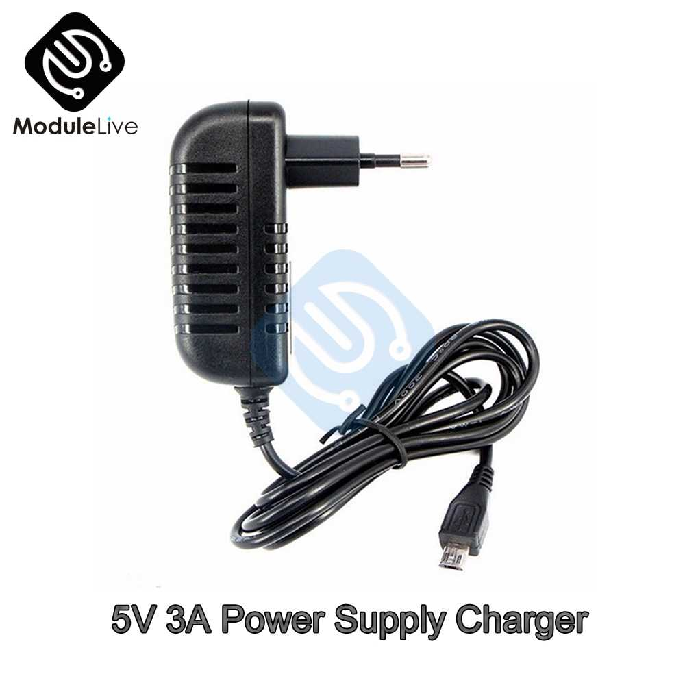 5V 3A Power Supply Charger AC DC Converter Adapter DC 3000mA MICRO USB 15W EU For phone calculator
