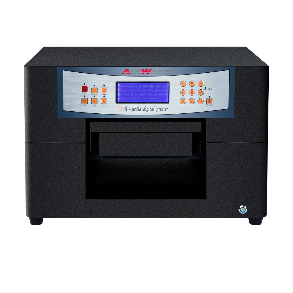 2016 New products mini A4 size uv flatbed printer with CISS image