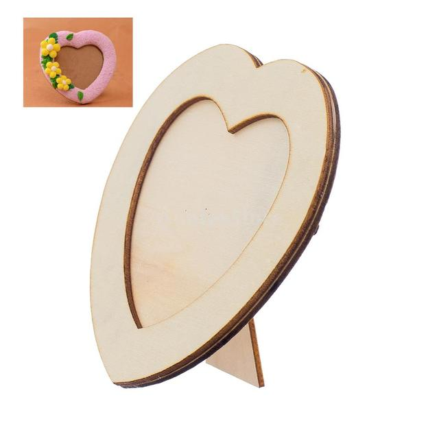 Wooden LOVE HEART Photo Frame DIY Picture Frame Art Craft-in Frame ...