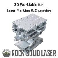3D рабочий стол 3 оси Moving Workbench DIY рабочей части волокна CO2 лазерная маркировка, гравировка машина фабрики оптовая продажа