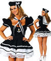 New Europe And The United States Navy Costume Pompon Maid Sailor Suit Costume Hallowen Party Sexy Dress Uniform Adult