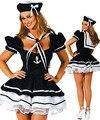 Nueva europa y los estados unidos pompón maid marinero traje azul marino traje traje hallowen party sexy dress uniform adultos