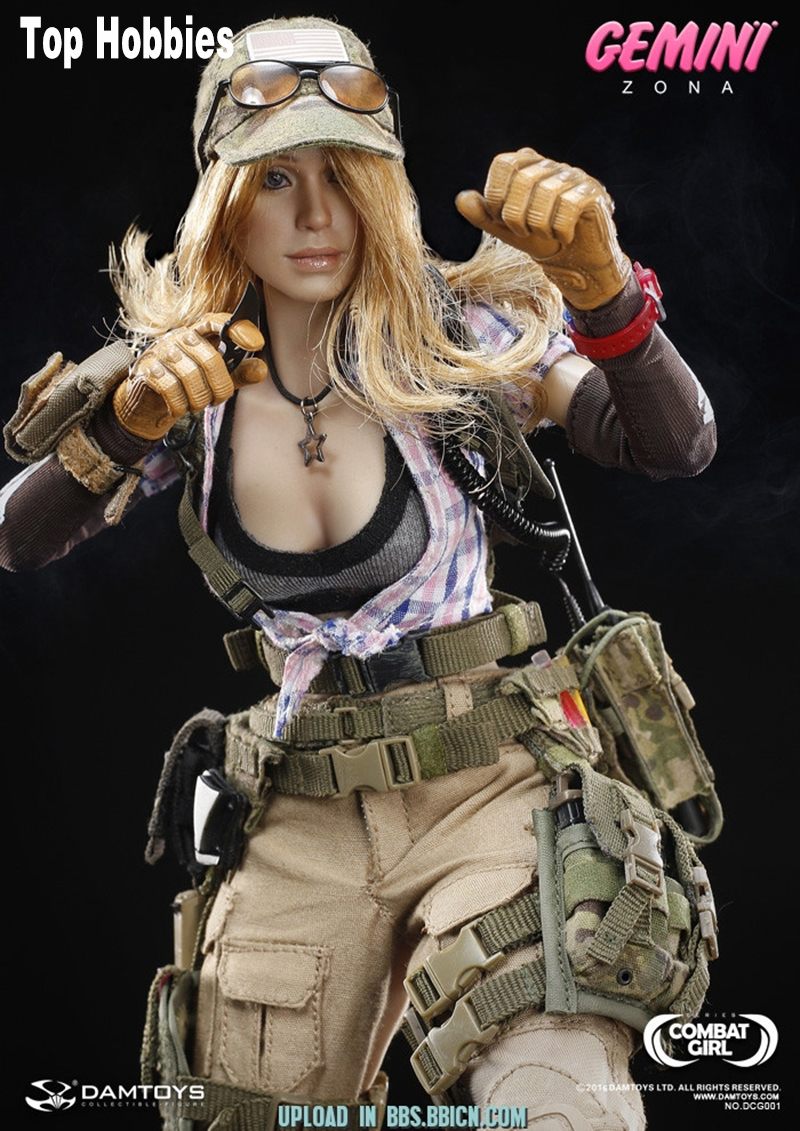 1/6 Female DAMTOYS DCG001 1/6 COMBAT GIRL pony girl Series Gemini Zona Female PMC Toys N ...