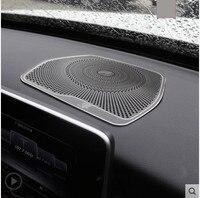 For Mercedes Benz C Class W205 C180 C200 C260 2015 2018 GLC Class X253 Burmester Design Car Dashboard Speaker Cover Trim LHD