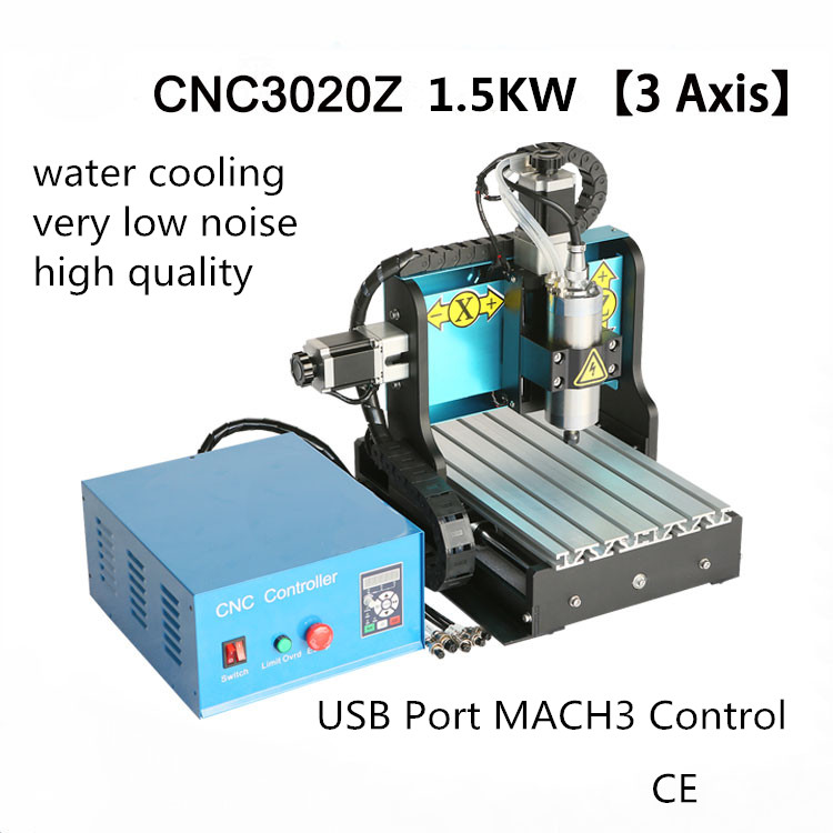1.5KW Water cooling 3 Axis CNC Router 3020 TBI SFU1605 Ballscrew USB Port MACH3 for Wood Stone Metal Engraving горелка tbi 240 3 м esg