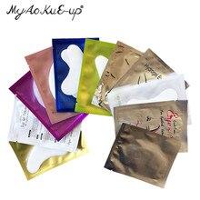 Разноцветные бумажные накладки для наращивания ресниц, 500 пар, накладки для наращивания ресниц, наклейки для ресниц под глаза, бумажные патчи для глаз
