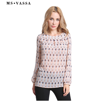 Women Blouses casual printed ladies Shirts