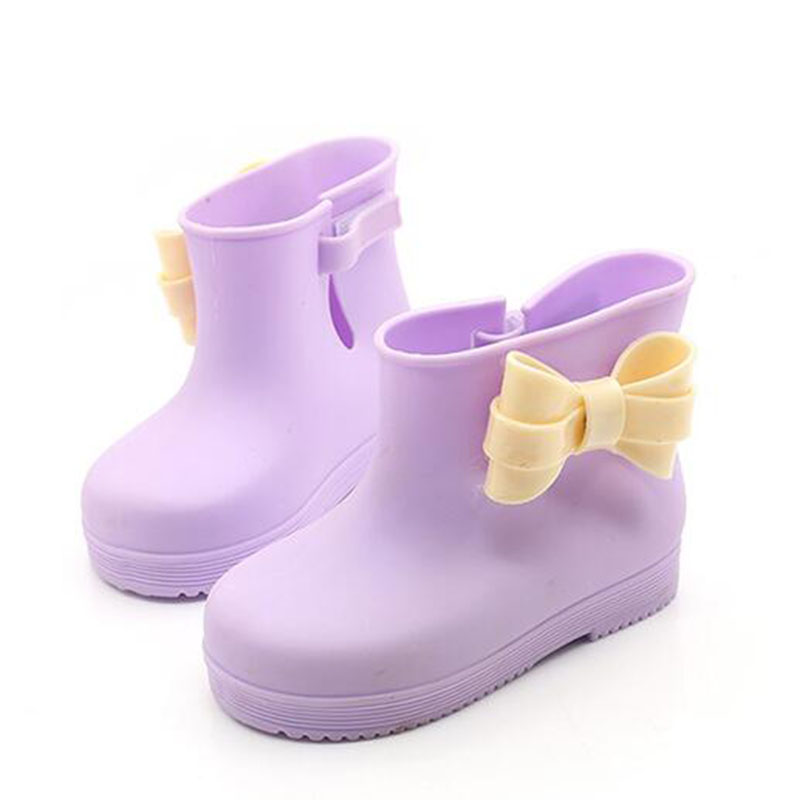 Aliexpress.com : Buy Girls Cute Solid Color Bowknot Rain Shoes All ...
