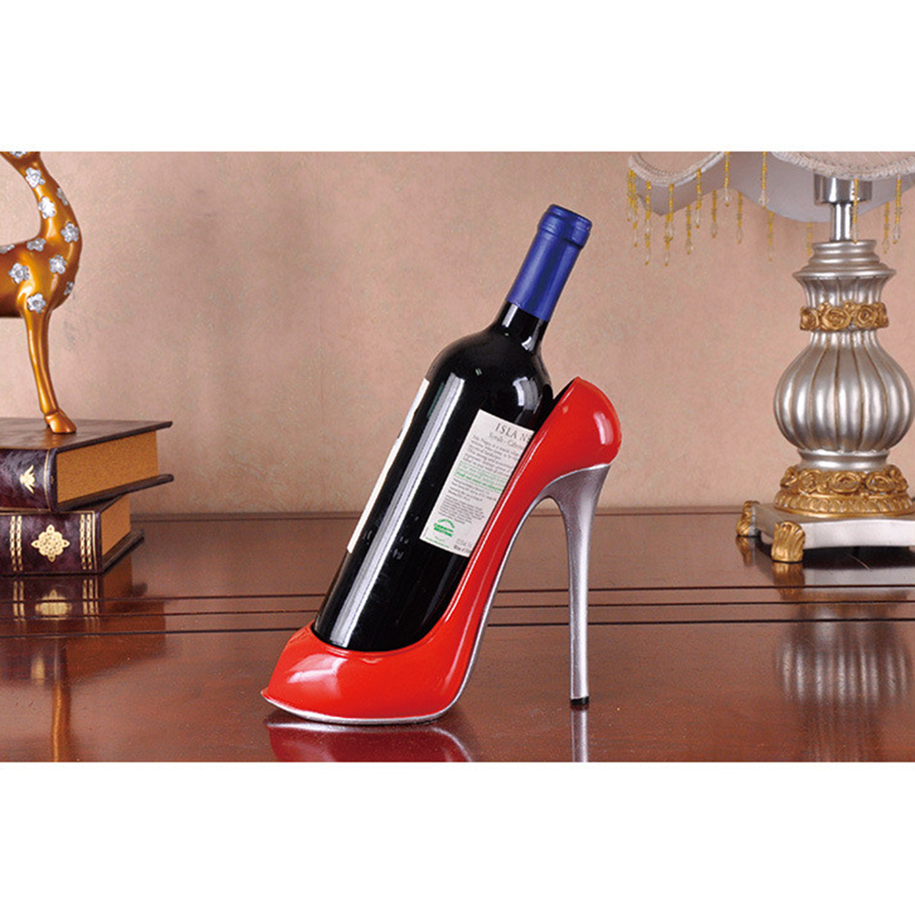 Us 23 37 Off Free Shipping 2018 New Resin High Heel Shoe Shaped Wine Bottle Holder Stylish Rack Wedding Party Gift Drop In
