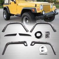 Free Shipping 6PC For 97 06 Jeep Wrangler TJ 7 Wide Pocket Extended Fender Flares Kit
