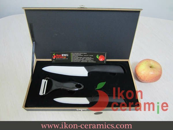 Free Shipping! High Quality Zirconia New 100% 3-pieces AJX Ceramic Knife sets(AJ-TZ3W-SH-BB)