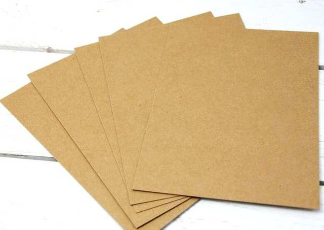 US $28 5 |230g A3 Plain Brown Kraft Matte Cardstock Paper Thick Card  Cardboard For Craft Cardmaking 50 Sheets-in Copy Paper from Office & School
