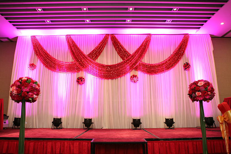 Wedding stage decoration with price gallery wedding decoration ideas decoration ernakulam kochi images with pricing a1 3m x 6m ice silk white backdrop with red shiny sequin swags wedding junglespirit Image collections