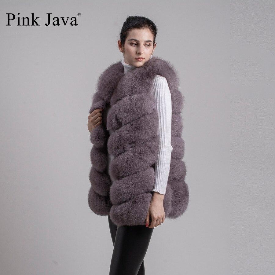 Image 3 - pink java QC8049   2016  New women real  fox fur vest high quality fur gilet hot sale fashion thick fur coat  FREE SHIPPINGgilet clothinggilets mengilet vest -