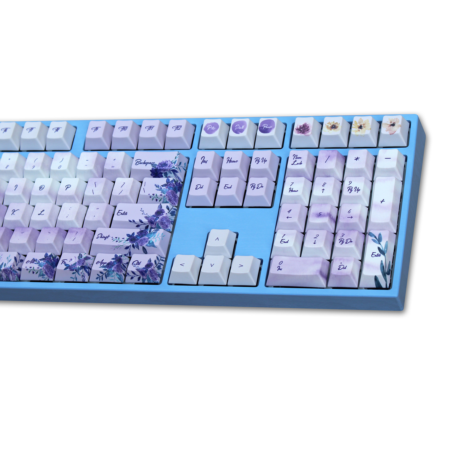 WIANXP purple five surface sublimation cherry profile 108 135 keys for mx switch mechanical keyboard Only selling keycap in Keyboards from Computer Office