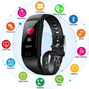 New Women Color Screen Smart watch For IOS Android Phone Sport Fitness tracker Pedometer Heart Rate Blood Pressure Watches - SALE ITEM Watches