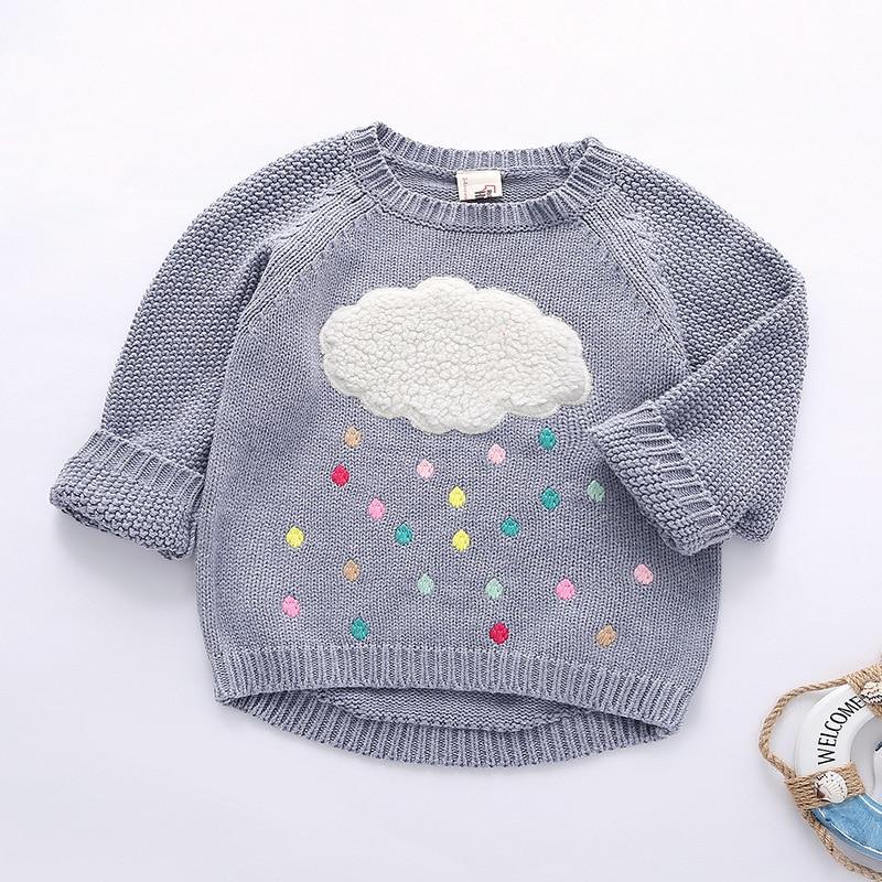 Rationeel Nieuwe Winter Cartoon Baby Meisjes Trui Cloud Regendruppels Kids Kleding Kinderen Trui Warm Lange Mouwen Voor Meisjes Knitwear
