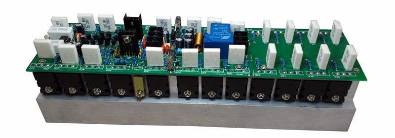 hifi large power watt High fidelity home fever professional stage 22pair C5200 A1943 large watt 2500W mono amplifier board in Amplifier from Consumer Electronics