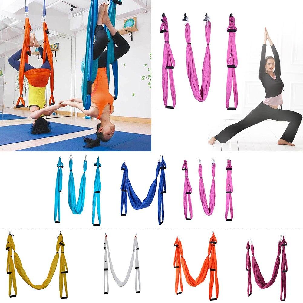 Hamac Anti-gravité à bride élastique à grand roulement pour Inversion de Yoga