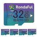 Rondaful Cartão De Memória de 32 GB 16 GB 8 GB cartão micro sd Class10 UHS-1 cartão de Memória flash de 128 GB 64 GB Microsd para Smartphone/PC alta velocidade
