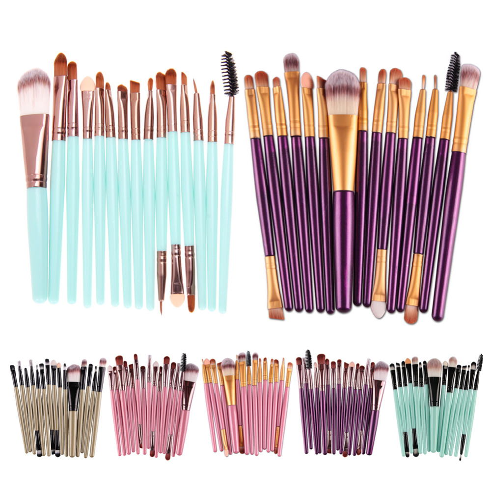 4/15pcs Makeup brushes Professional Eyebrow Blusher Lip Powder Foundation Eyeshadow Eyeliner Cosmetic Make up Brush Set Maquiage new for dell xps13 9350 bottom base cover case 0nkrwg