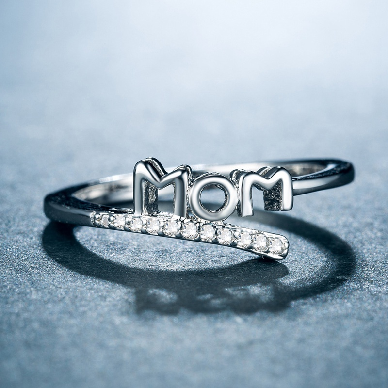 Vintage Silver Love Mom Ring 1
