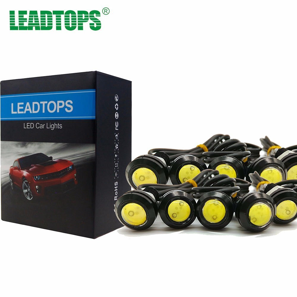 10pcs 18/23mm LED DRL Eagle Eye Daytime Running Light Parking Lights Source For Renault Ford Toyota Bmw Vw Lada Car Styling AE 2015new arrival eagle eye 3 smd led daytime running light 20pcs lot 10w 12v 5730 car light source waterproof parking tail light