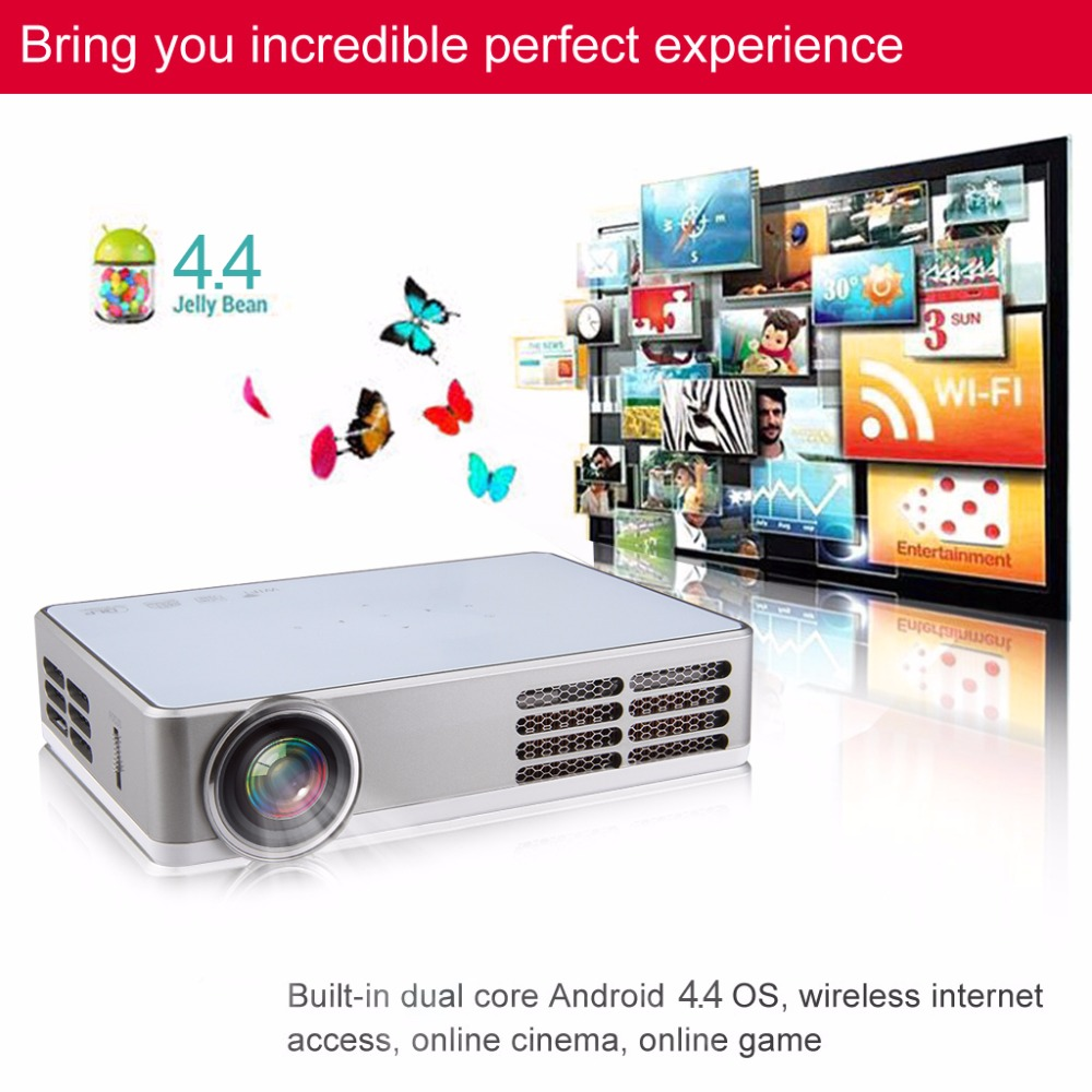 Excelvan LED9 Portable WiFi Mini Projector Android4.4 LED DLP Projector With  ( (12)