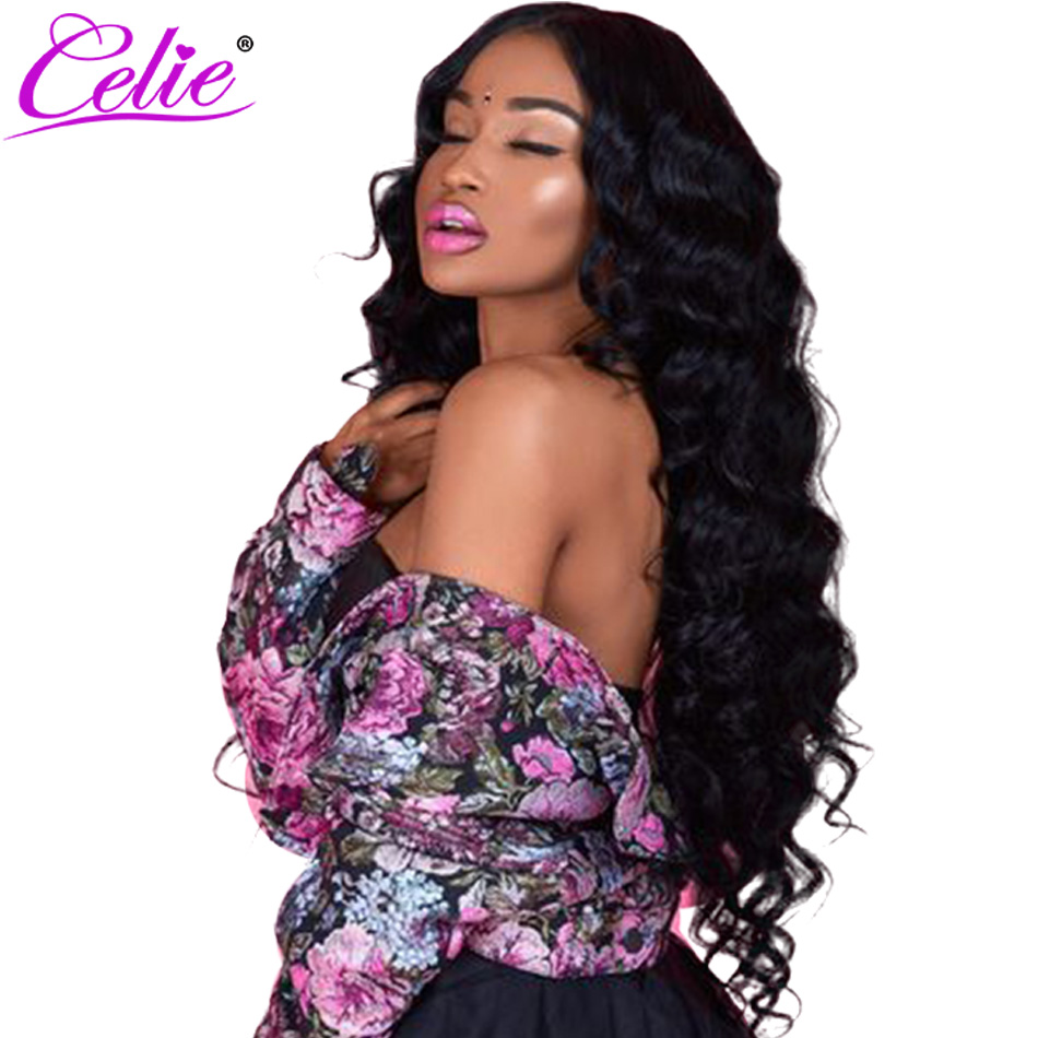 Celie 13x6 Lace Frontal Wig Pre Plucked With Baby Hair 150 180 250 Density Brazilian Loose