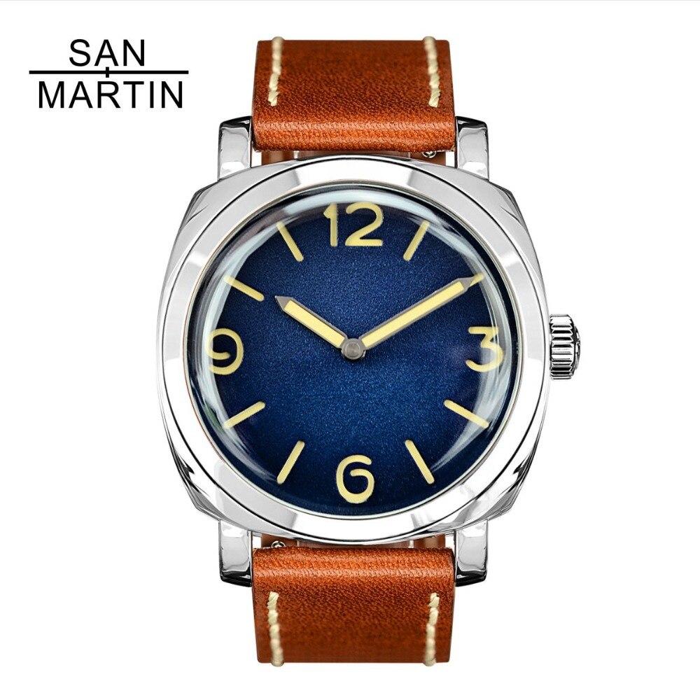 San Martin Hommes De Mode Montre Automatique Plongée Montre Vintage Stainlss Acier Montre-Bracelet 200 m Résistant À L'eau Montre Homme Hommes
