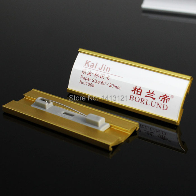 US $19 5 |free shipping 60*20mm name badge work card employee card badge  pin business display office supply company Factory School tack-in Tacks  from