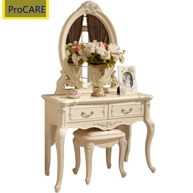 Stile europeo Bianco Dressing Table Set Con Specchio Per Camera Da ...
