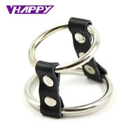 Strap-On metal Cock ring delay fun male sperm locking Penis Ring Delay Ejaculation Time For Men Novelty Sex Toys VP-PR009002A