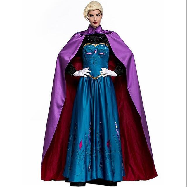 2017 New Elsa Costume Adult Princess Elsa Dress Cosplay Halloween Costume For Women Cosplay Party Formal  sc 1 st  AliExpress.com & 2017 New Elsa Costume Adult Princess Elsa Dress Cosplay Halloween ...