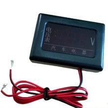 1 zestaw 12V/24V DC samochodów Balck woltomierze Auto wskaźnik LED cyfrowy woltomierze 70x50x20MM