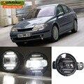 2em1 eeMrke Xenon Branco de Alta Potência LED DRL luz de Nevoeiro Com Lente Do Projetor Para Renault Laguna 2 2000-2007