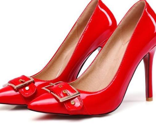 rouge Pompes Talons Dames Fille Acrossing Cuir Noir D'été De Hauts Femmes En blanc Mode Verni Mince Cheville kaki xWHZgncRx