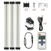 DMXY 3 шт./компл. smd 2835 ИК пульт дистанционного управления затемнения под кабинет свет Кухня свет светодиодный бар свет 3*0,3 м * 33 светодиодный s Жесткий жесткая