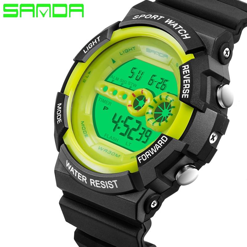 Fashion Sport Super Men s Quartz Digital Watch Men Sports Watches SANDA Luxury Brand LED G